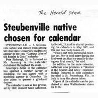Steubenville Male Male Calendar