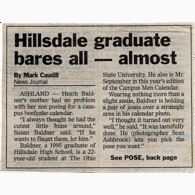 Hillsdale Student in Beefcake Calendar
