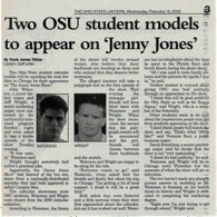 Two OSU student models to appear on Jenny Jones Show
