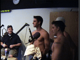 Calendar Men Go Shirtless for Radio Morning Show