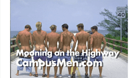 College Guys Mooning on Overseas Highway