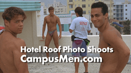 Male Models Hold Photo shoots on roofs of Miami Beach hotels