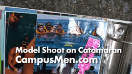 Key West Catamaran Becomes Backdrop For Male Model Shoots