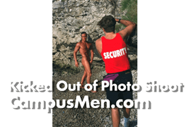 Photo Crew for Campus Men Calendar Often Kicked Out of Photo Locations