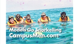 Male Models Go Snorkeling Between Photo Shoots in Key West