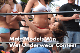 Campus Men Win Wet Underwear Contests