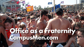 Office building doubles as fraternity House for photo shoot