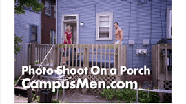 Male Model's Bed Scene Created Outdoors
