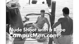 Old Ladies Snap Photos of Male Model's Bare Butt While He Waited For Sun at Photo Shoot at Key West Dock