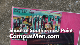 Male Model's Photo Shoot at Key West's Southernmost Point Lasted Only 90 Seconds